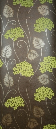 Hydrangea first love collection brown lime green for Cheap green wallpaper