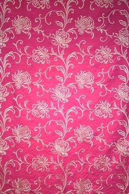 Kelway Silk Adore Fabric Hot Pink Cream Collection